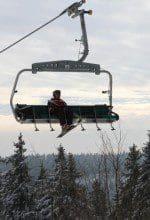 Mit Glück ein bißchen Wintersport