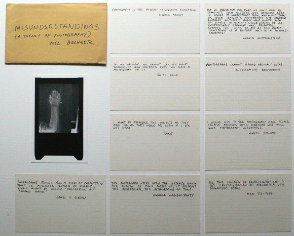 Mel Bochner - Missunderstandigs A Theory of Photography 1964