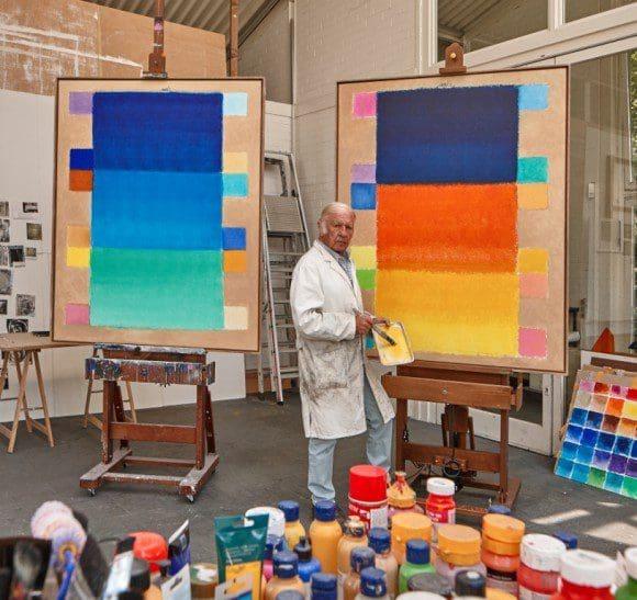 Heinz Mack in seinem Atelier - Foto: Atelier Mack