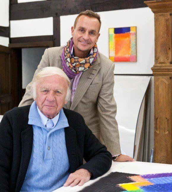 Heinz Mack und Alexander Baumgarte im Atelier - Foto: Artvollector