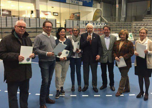 Vorstand des GC Stahlberg: v.l.n.r. Christoph Maaßen, Udo Rieker, Dr. Rudolf Ohrmann, Thomas Kattenbusch, Heike Sahm.