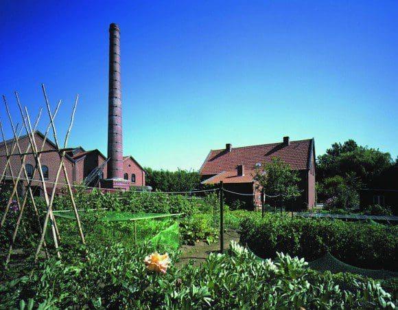 Das Textilmuseum mit seinem Gemüsegarten in Bocholt