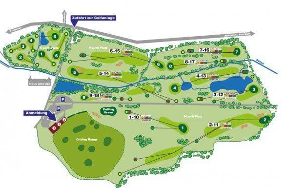 Spielplan für Golf am Haus Amecke