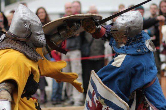 Natürlich steht auch ein echtes Ritterturnier auf dem Programm