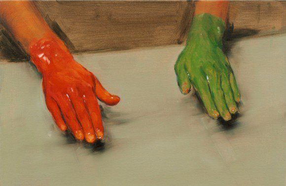 Marta-Herford: Grün stört - Michael Borremans Red-Hand-Green-Hand