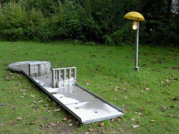 Minigolf spielen in einem Kunstwerk - Foto: Bad Driburg