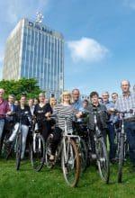 Münster: Banker mit dem Rad zur Arbeit