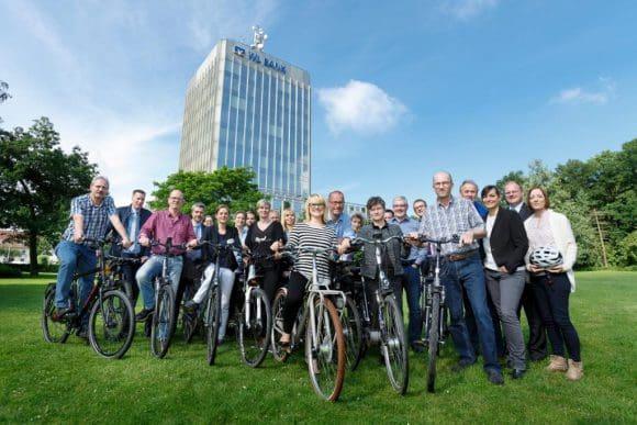 Mitarbeiter der WL Bank mit JobRad Foto: Münsterview/Tronquet