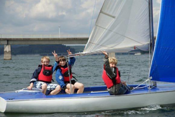 Mit der Segelschule auf den See