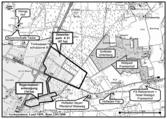Höchst umstritten: Die Planungen zum Gewerbepark an der A31