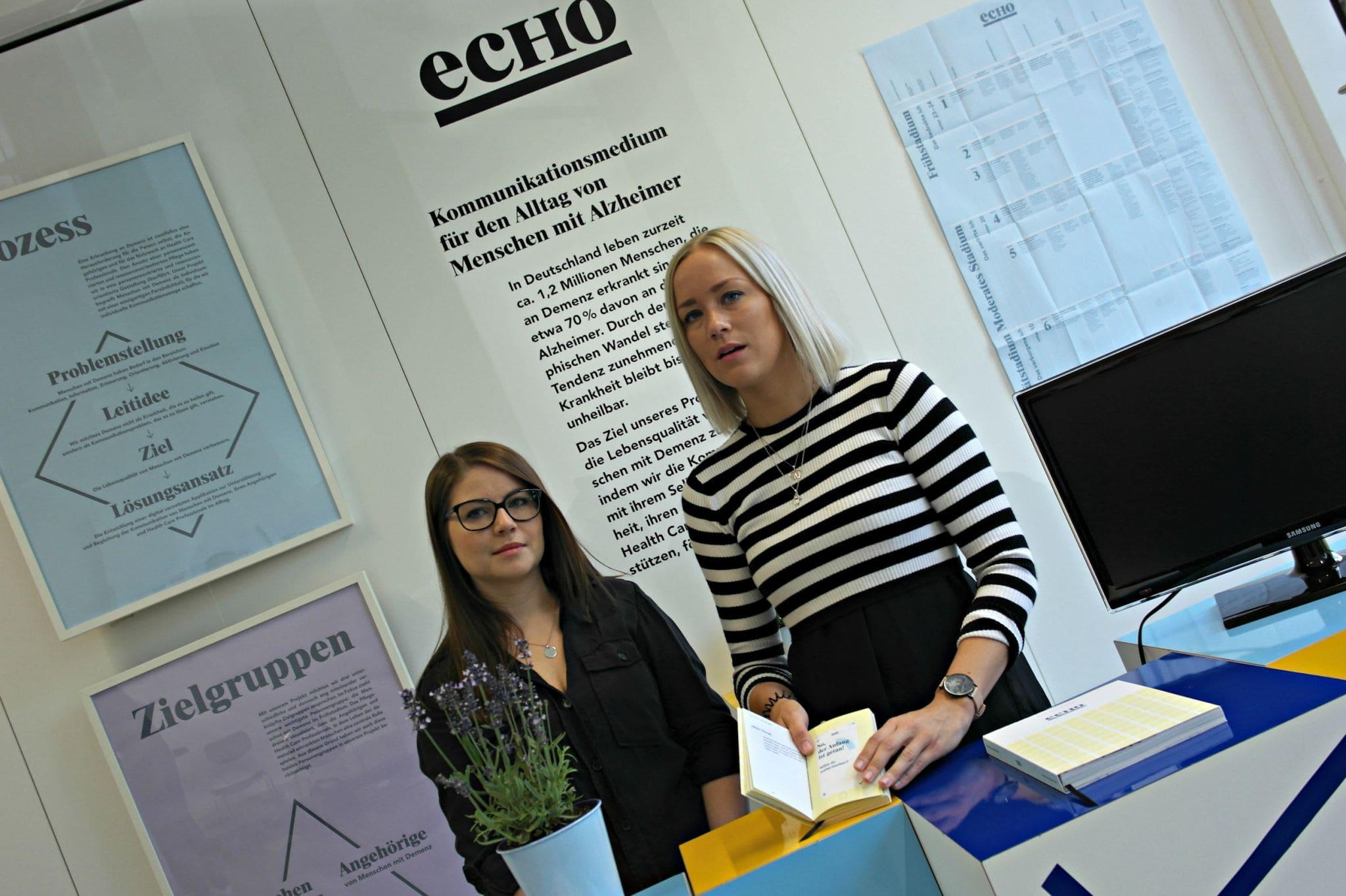 Wollen ein neues Kommunikationsmedium für Demenzkranke schaffen: Kristina Seibel und Carolin Wrona