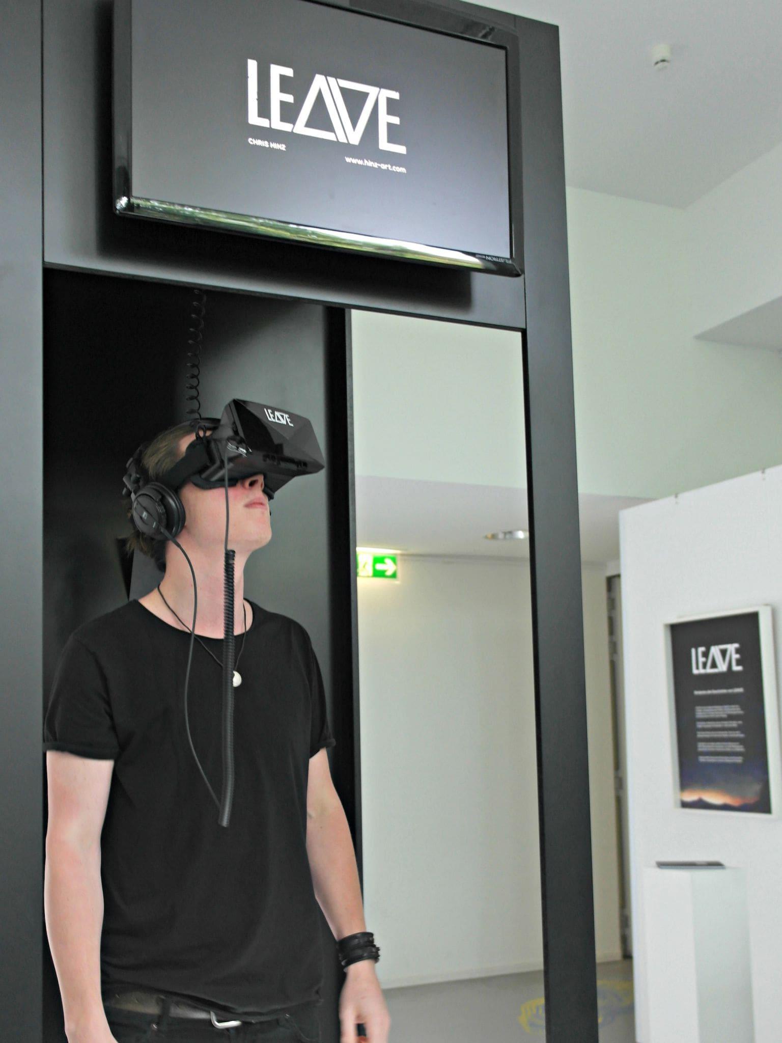 """In Chris Hinz' Computerspiel """"Leave"""" taucht der Spieler in 360-Grad-Illustrationen ab"""