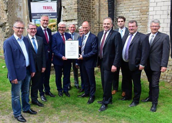 Außenminister Steinmeier im UNESCO-Geopark TERRA.vita