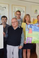 Benefiz-Turnier: Künstler malen Golfer
