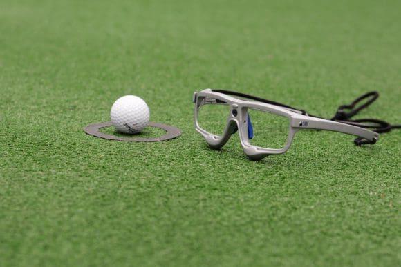 Mit einer speziellen Brille wird der Blick des Golfers aufgzeichnet