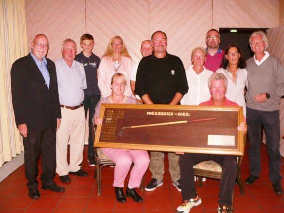 Zufriedene Gewinner beim Präsidentencup im Golfclub Schmallenberg