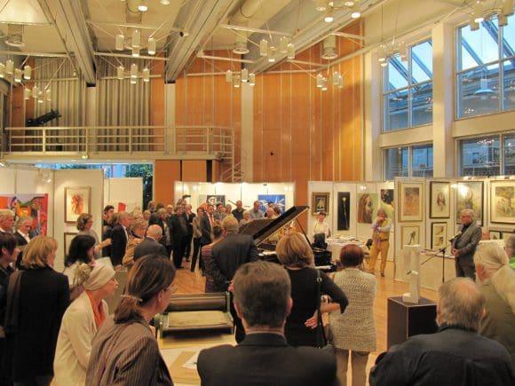 Mit einer Vernissage wurde die Kunstmesse feierlich eröffnet.