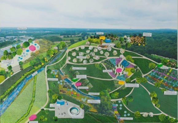in Entwurf für einen Natur- und Wasser-Erlebnispark am Wasserkreuz Castrop-Rauxel / Recklinghausen. Foto: Emschergenossenschaft