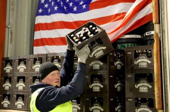 Erster Container bringt Grevensteiner Landbier nachNew York, Seattle und San Diego