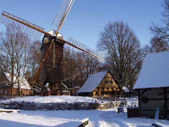Mühlenhof Freilichtmuseum im Winter