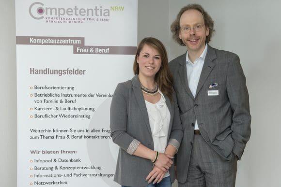 """Mentoringprogramm """"next step"""", Aileen Schmieder und Karsten Adenauer"""