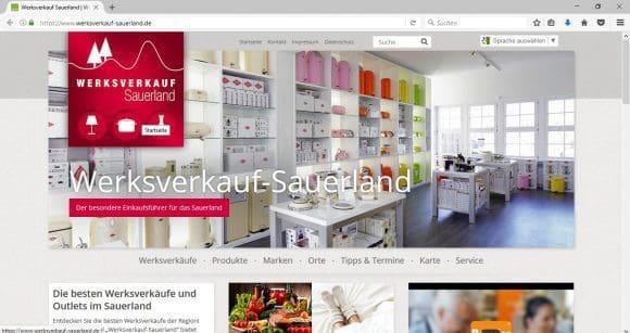 Sauerland Karte Berge.Werksverkauf Sauerland Infos Fur Die Schnappchenjagd