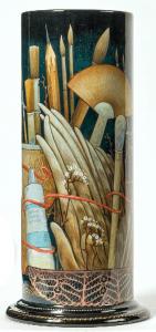 Arbeit von Nataljia Krotowa im Museum für Lackkunst