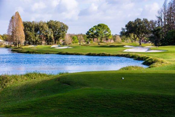 Auch Bernhard Langer hat in Florida eingelocht: Golfplatz TPC in Tampa Bay