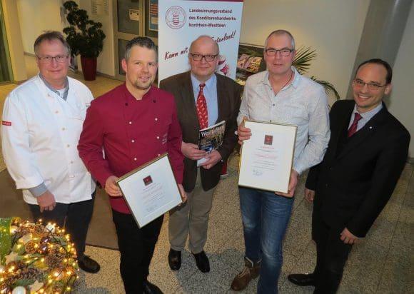 """Die Siegerehrung des Wetbbewerbs """"Die Westfälische Konditorei des Jahres 2017"""" fand Mitte Dezember in der Kreishandwwerkerschaft Münster statt"""