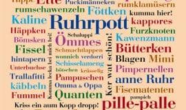 Ruhrpott aus Wörtern für die Wand