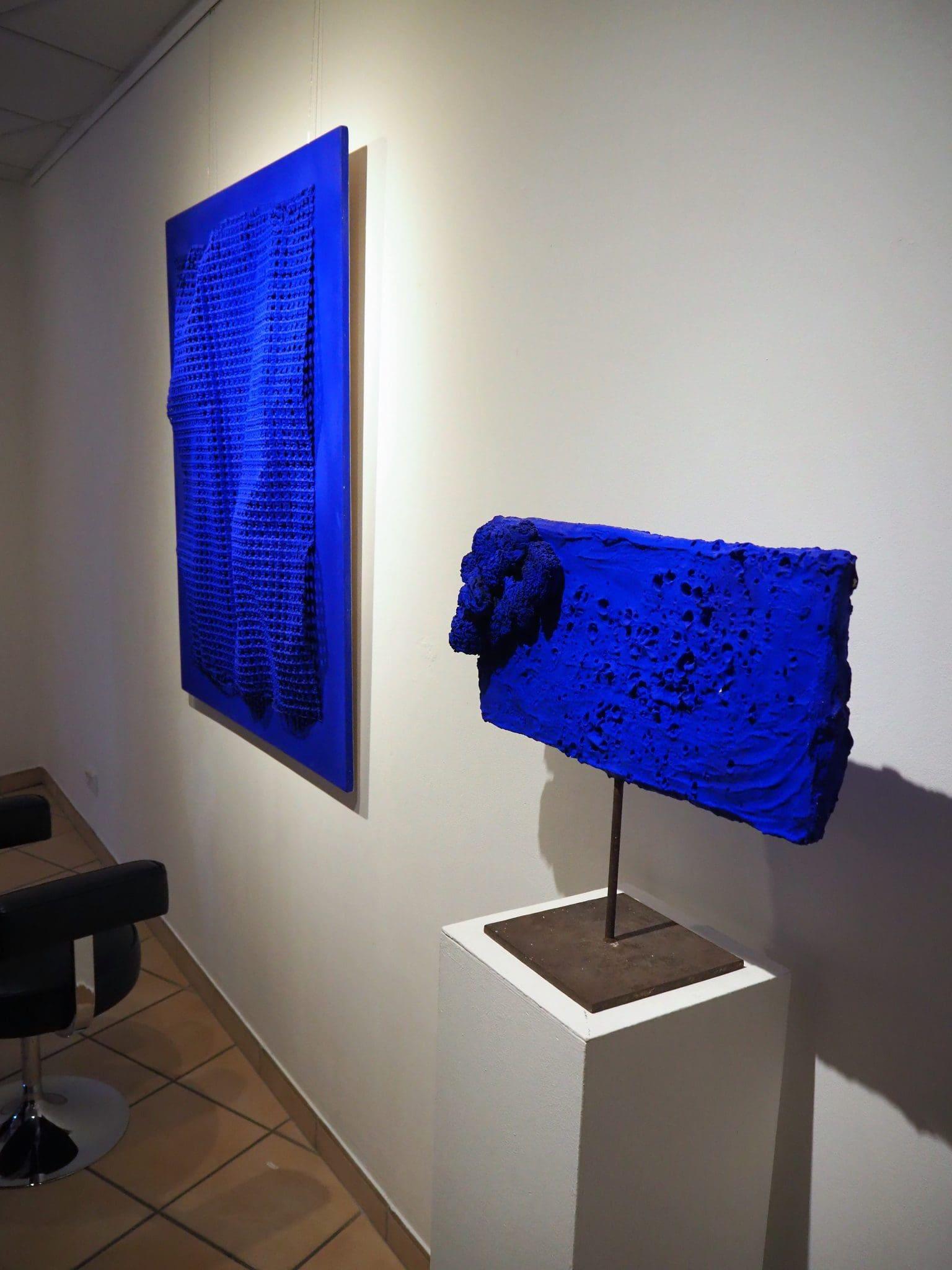 Blaue Kunst in Borken