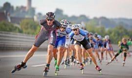 Sport-Event auf Bielefelds Stadtautobahn