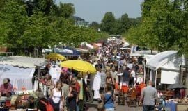 Münster Sommer, Sonne, Promenadenflohmarkt