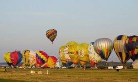 Airport Paderborn: Heißluftballons starten