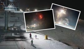 Video: Nachtskilauf mit Feuerwerk und Party an Silvester