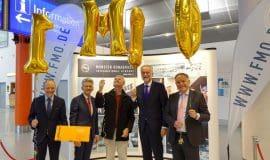 FMO begrüßt 1-millionsten Fluggast