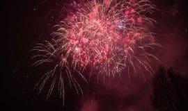 Feuerwerk über dem Westfalenpark