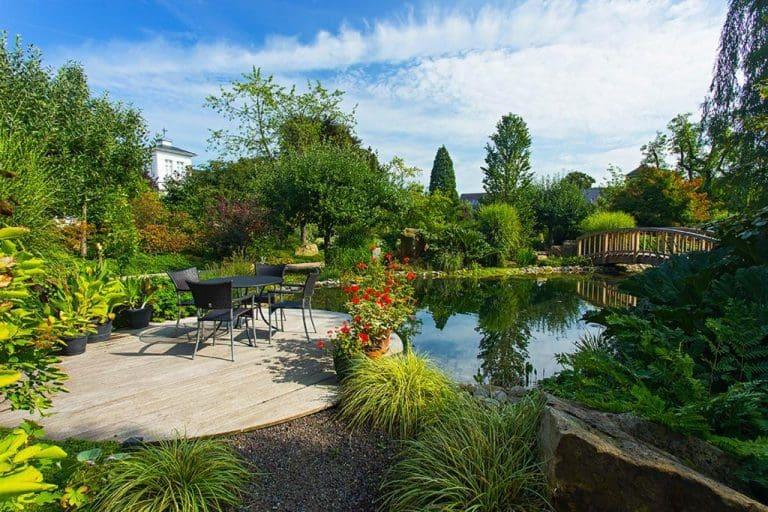 Gartenidyll in Bocholt: Pfingstrosen blühen