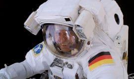 Astronaut im LWL-Planetarium in Münster