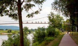 Mit dem Fahrrad an der Weser lang