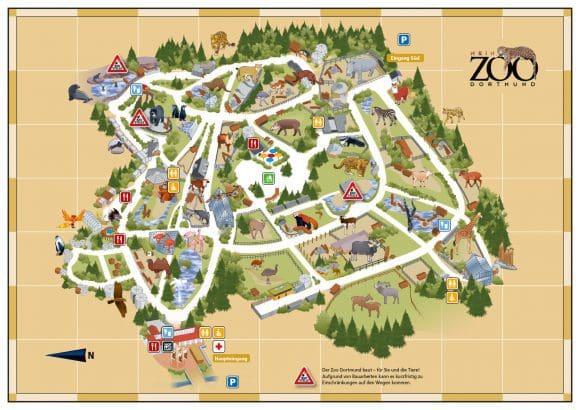 Zoo Dortmund Übersichtskarte