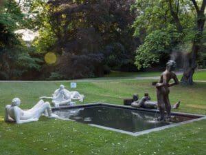 Brunnen für Münster: Die Arbeit von Nicole Eisenman für die Skulptur Projekte 2017 kann jetzt wieder aufgestellt werden - Foto: Henning Roge