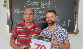 Gerhard Besler feiert 70. Geburtstag