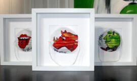 Maskenball in der Galerie Gockel