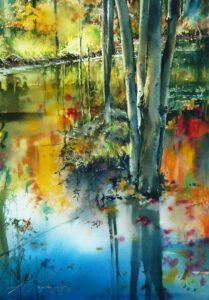 Landschaftsbild in Aquarell