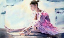 Aquarellmalerei in der Galerie Spiegel