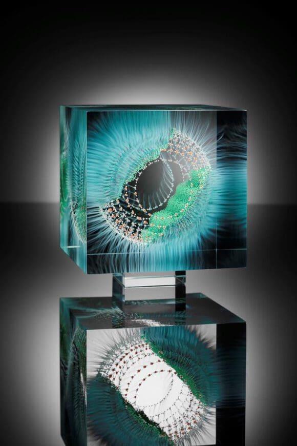 Glasobjekte aus verschiedenen Glasscheiben