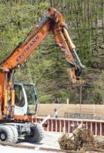 Die Bauarbeiten am Fundament des neuen Eingangs haben begonnen. Foto: LWL