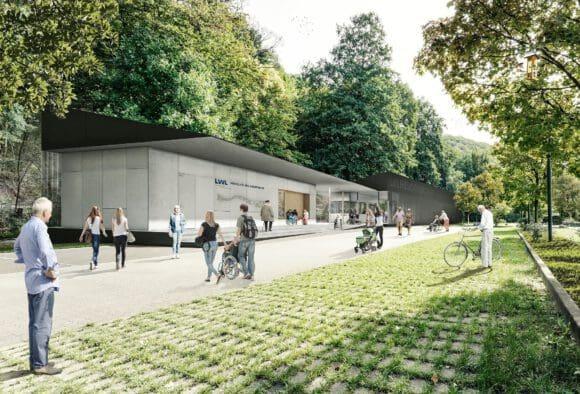 Diese Visualisierung soll zeigen, wie die Besucher künftig den neuen Eingangsbereich erleben. Foto: LWL