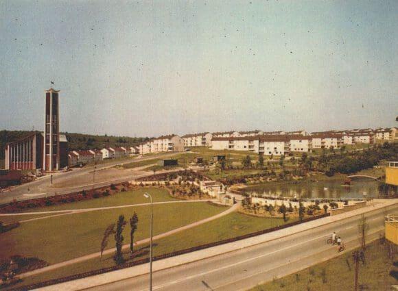 Der Dr.-Dudziak-Park kurz nach Fertigstellung, um 1955. Foto: Traute Fries, Siegen